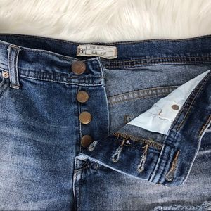 Free People Shorts - Free People Distressed Cut Off Denim Jean Shorts